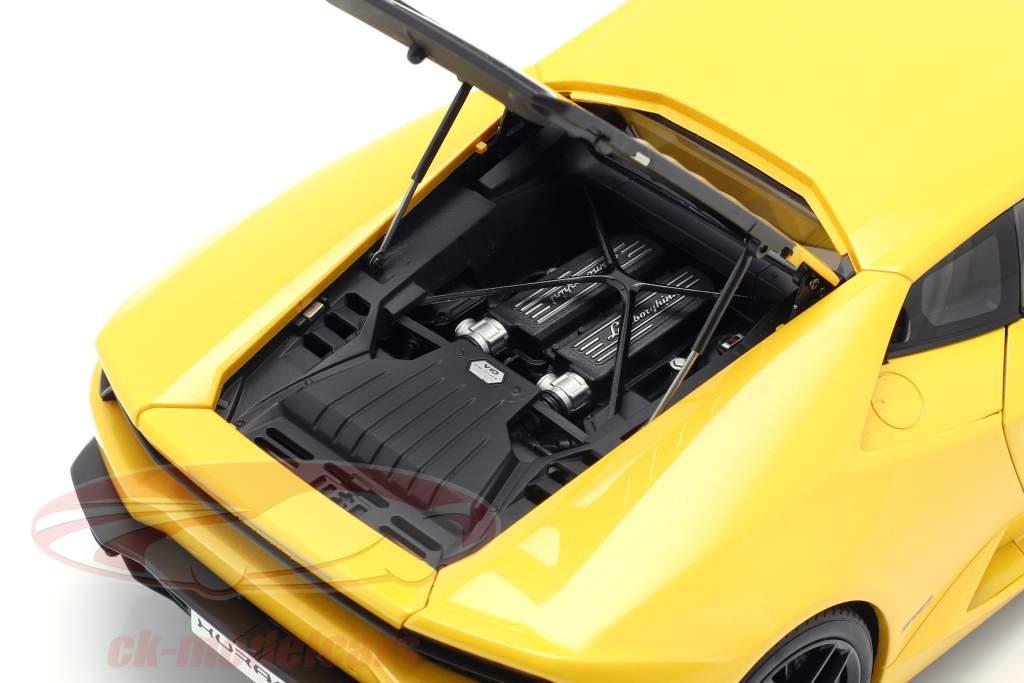 Lamborghini Huracan LP610-4 año 2014 amarillo 1:18 AUTOart