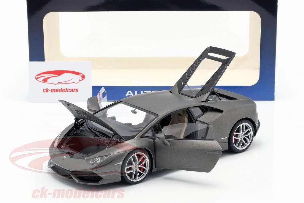 Lamborghini Huracan LP610-4 Jaar 2014 titanium mat grijs 1:18 AUTOart