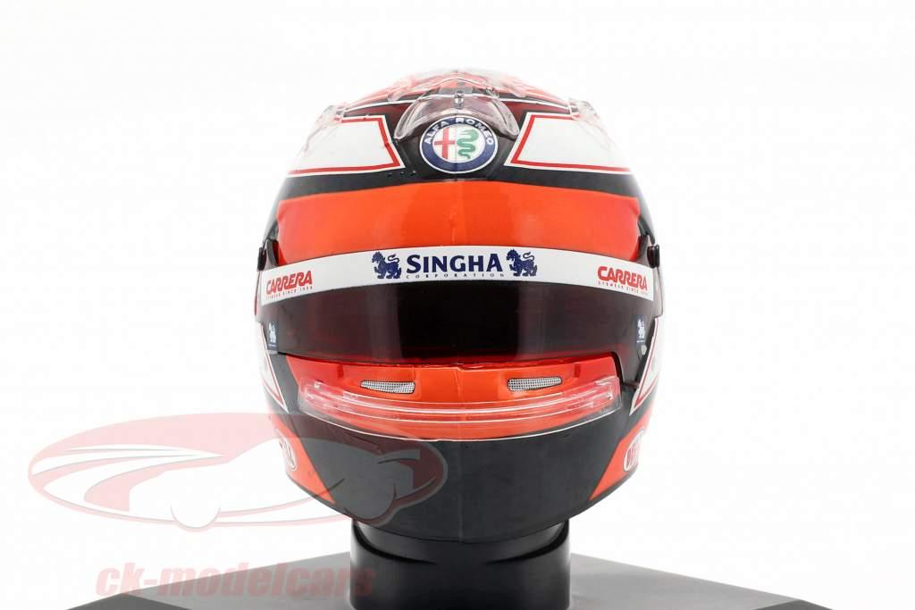 Kimi Räikkönen #7 Alfa Romeo Racing formula 1 2019 helmet 1:5 Spark