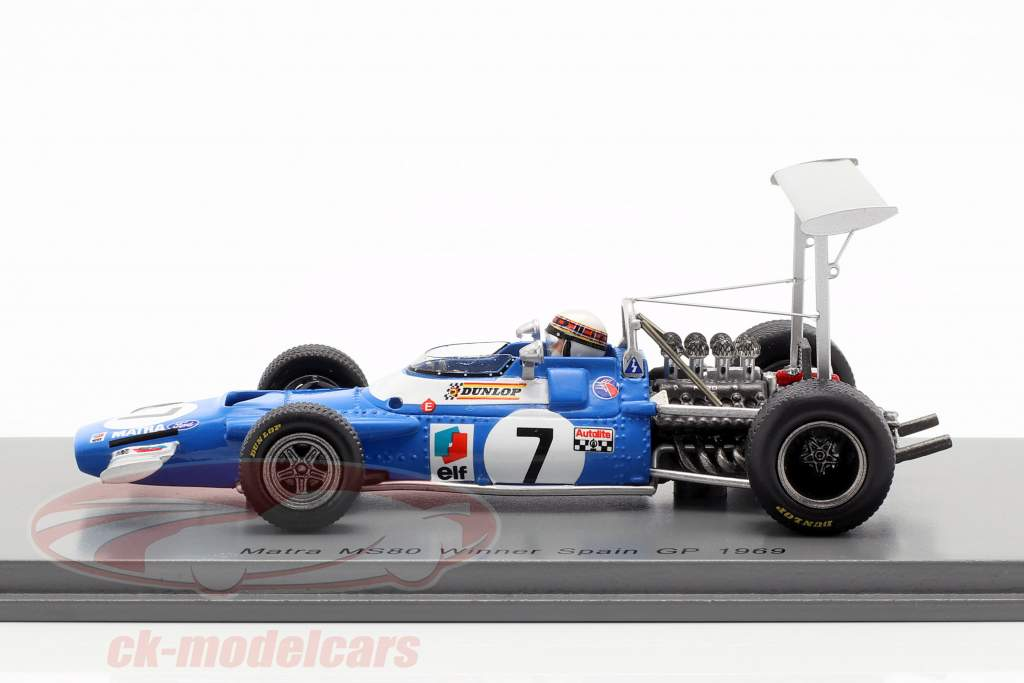 Jackie Stewart Matra MS80 #7 Winner spanish GP World Champion F1 1969 1:43 Spark