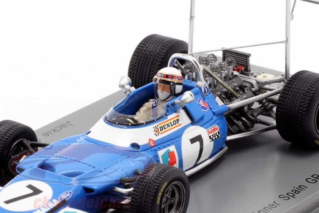 Jackie Stewart Matra MS80 #7 vencedor espanhol GP campeão do mundo F1 1969 1:43 Spark