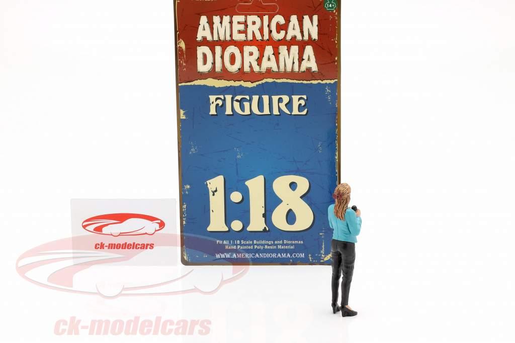 Reporterin Figur 1:18 American Diorama