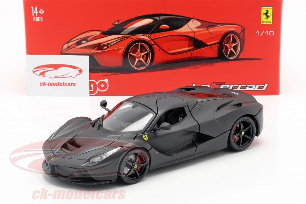 Ferrari LaFerrari Année 2013 Noir mat 1:18 Bburago Signature