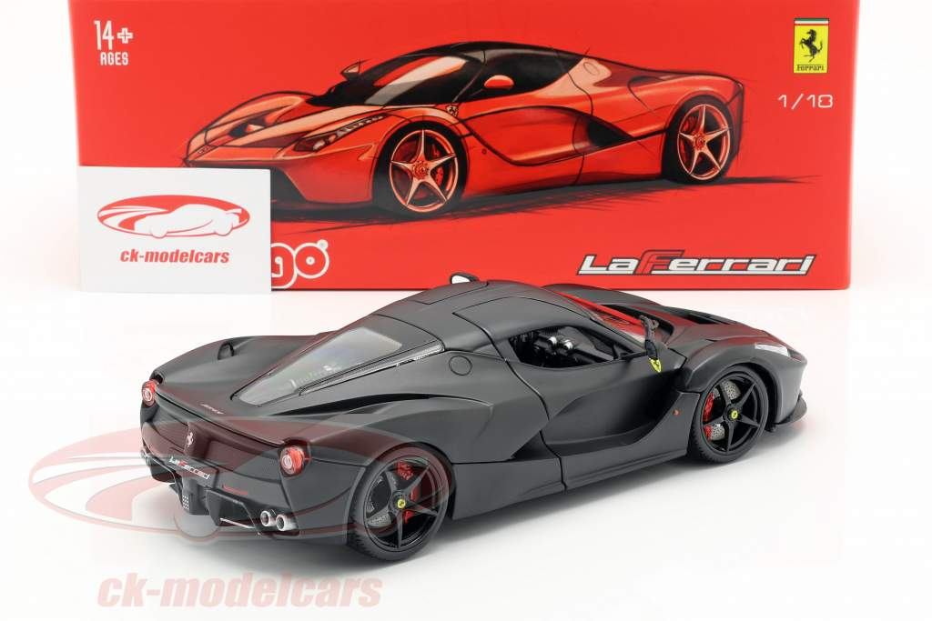 Ferrari LaFerrari Baujahr 2013 mattschwarz 1:18 Bburago Signature