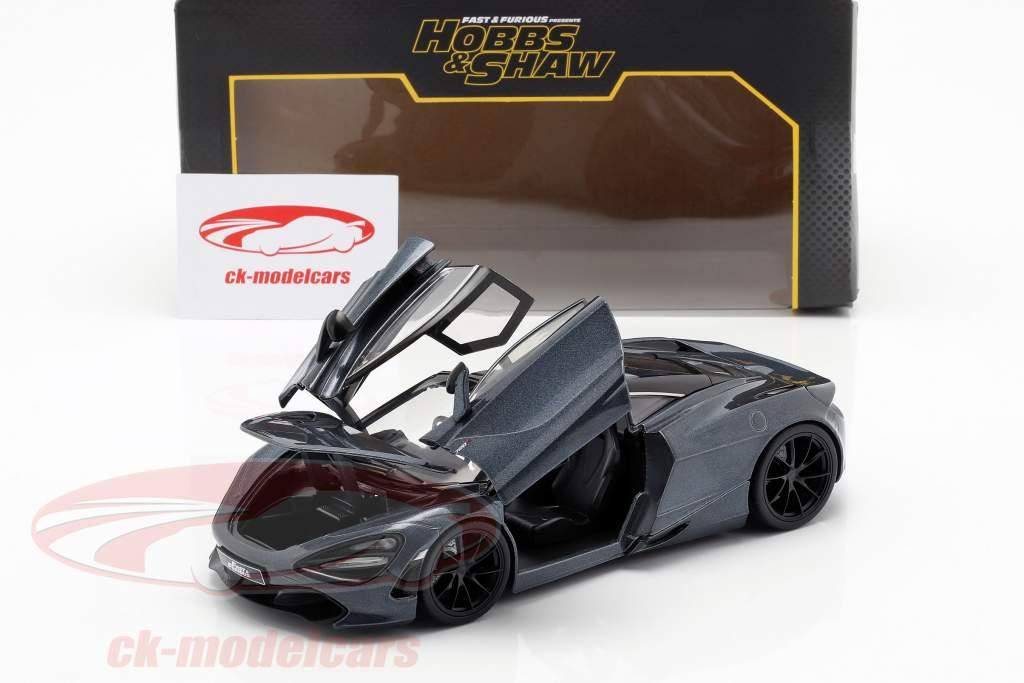Shaw's McLaren 720S film Fast & Furious Hobbs & Shaw (2019) grå metallisk 1:24 Jada Toys