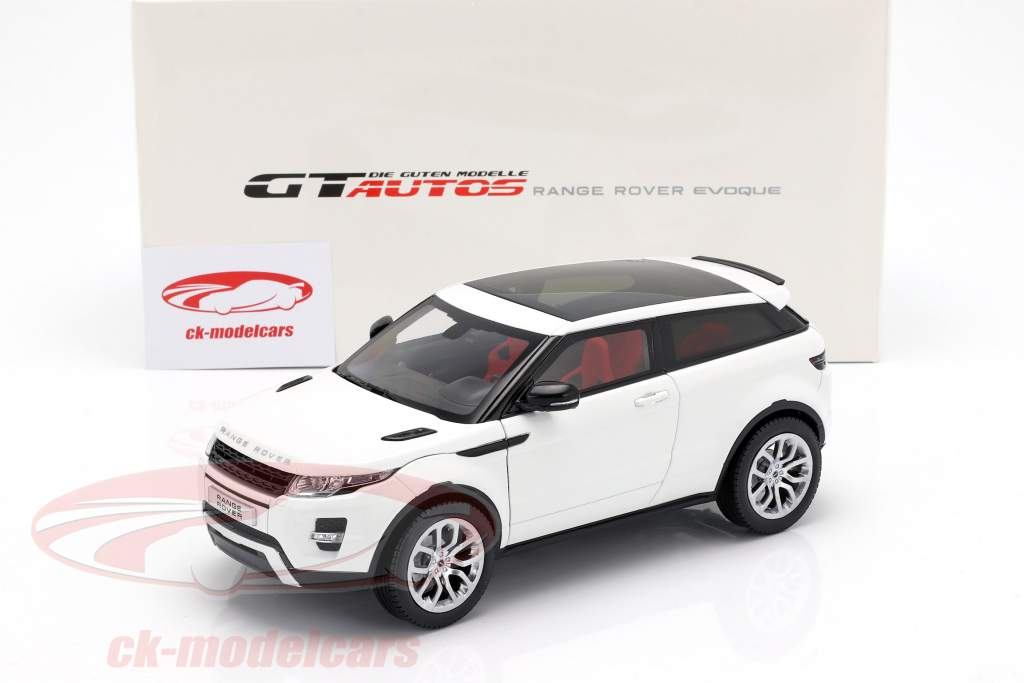 Land Rover Range Rover Evoque Opførselsår 2011 hvid 1:18 Welly GTA