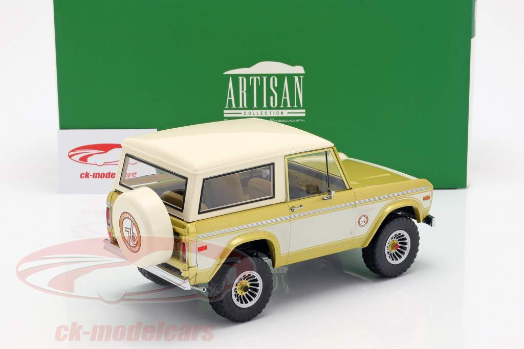 Ford Bronco Colorado Gold Rush 1976 gold / creme weiß 1:18 Greenlight