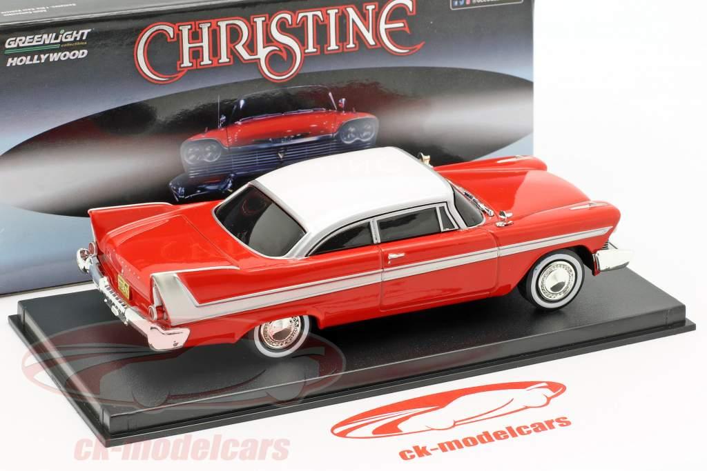 Plymouth Fury 1958 Evil Version Película Christine (1983) rojo / Blanco / oscuro ventana 1:43 Greenlight