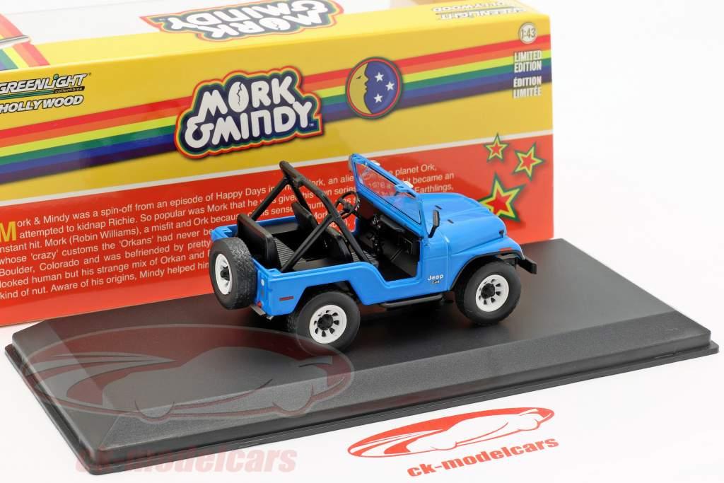 Jeep CJ-5 1972 series de televisión Mork & Mindy 1978-82 azul 1:43 Greenlight