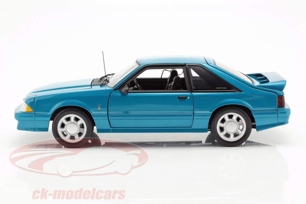 Ford Mustang Cobra Opførselsår 1993 blå grøn 1:18 GMP