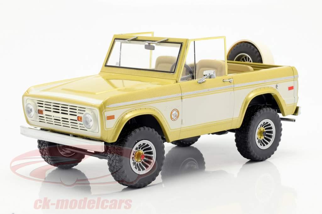 Ford Bronco Colorado Gold Rush 1976 gold / creme weiß 1:18 Greenlight
