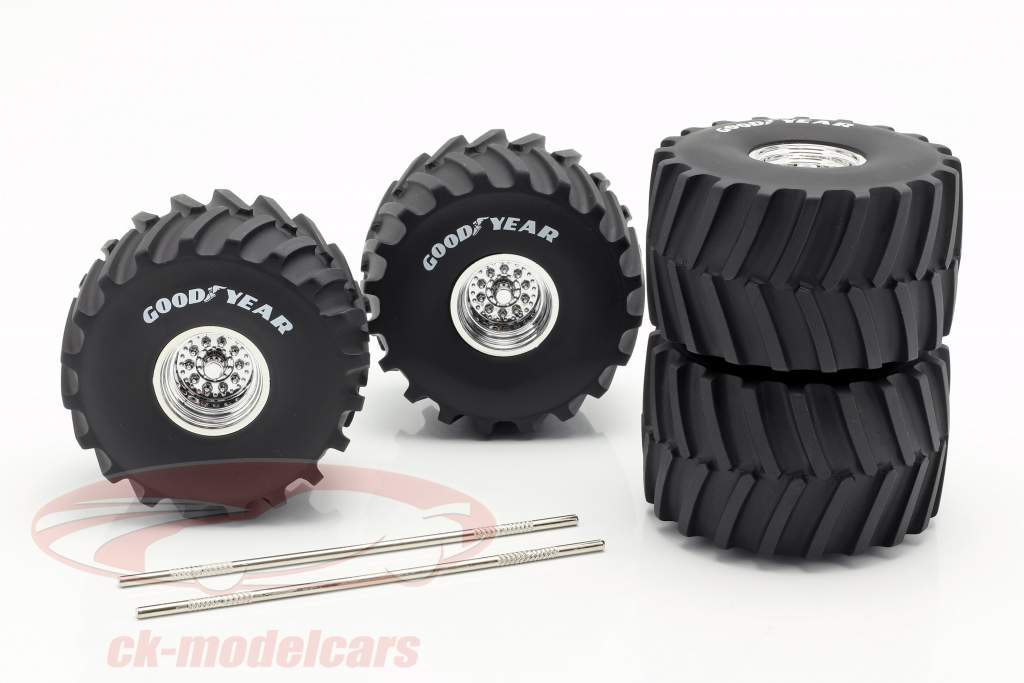 Monster Truck 66-inch hjul & dæk Set Goodyear 1:18 Greenlight