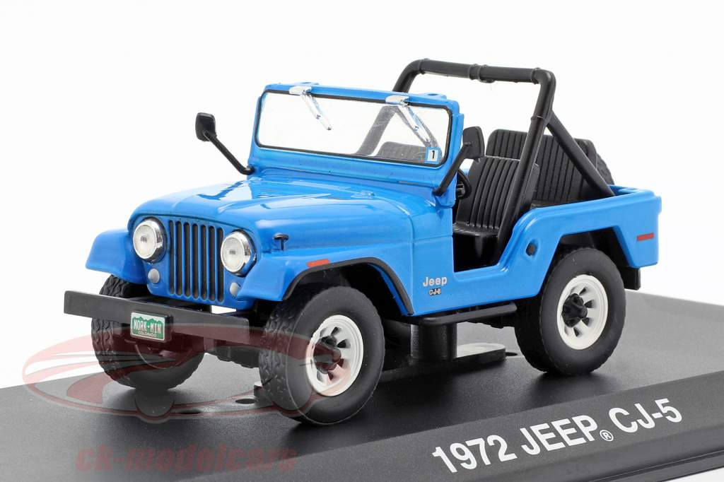 Jeep CJ-5 1972 TV series Mork & Mindy 1978-82 blue 1:43 Greenlight