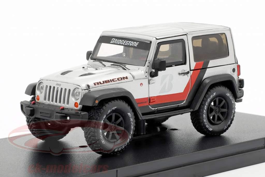 Jeep Wrangler Rubicon Bridgestone 2014 prata / preto 1:43 Greenlight