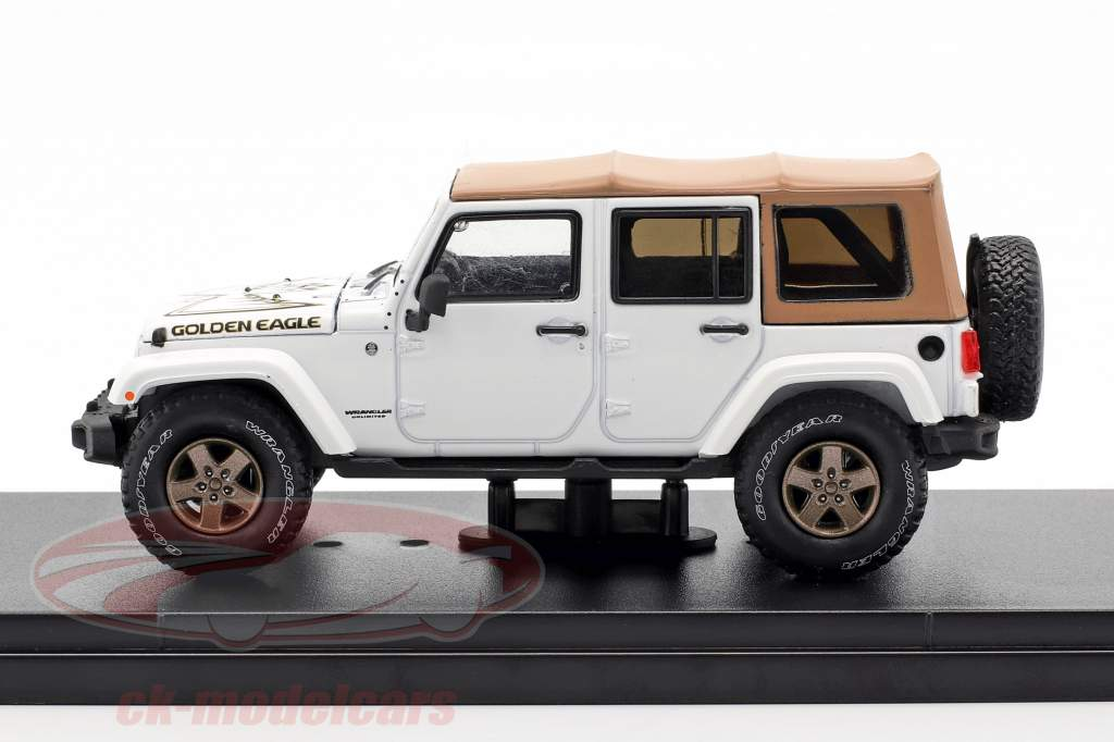 Jeep Wrangler Unlimited Golden Eagle 2018 blanco 1:43 Greenlight
