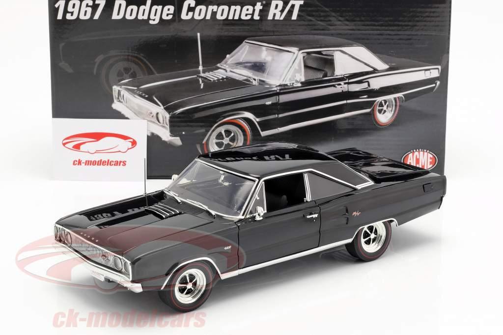 Dodge Coronet R/T Hemi Opførselsår 1967 sort 1:18 GMP