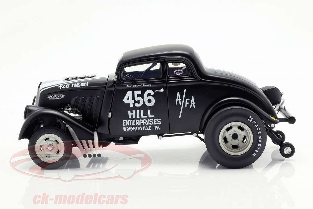 Willys Gasser Dirty Thirty año de construcción 1933 satén negro / blanco 1:18 GMP