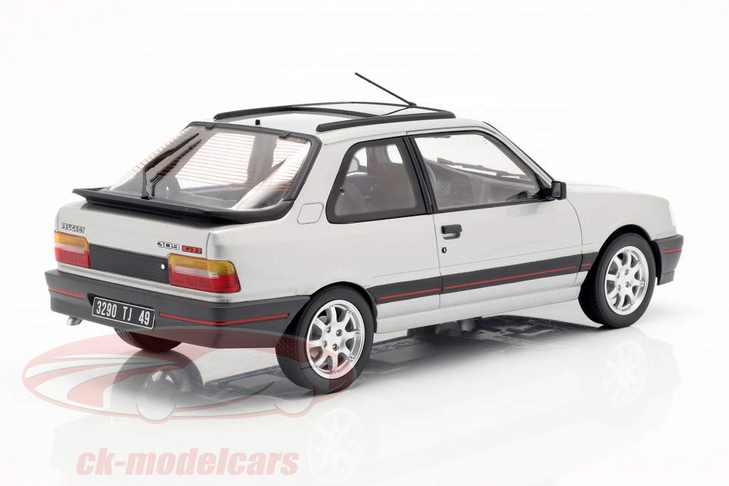 Peugeot 309 GTi Baujahr 1987 futura grau metallic 1:18 Norev