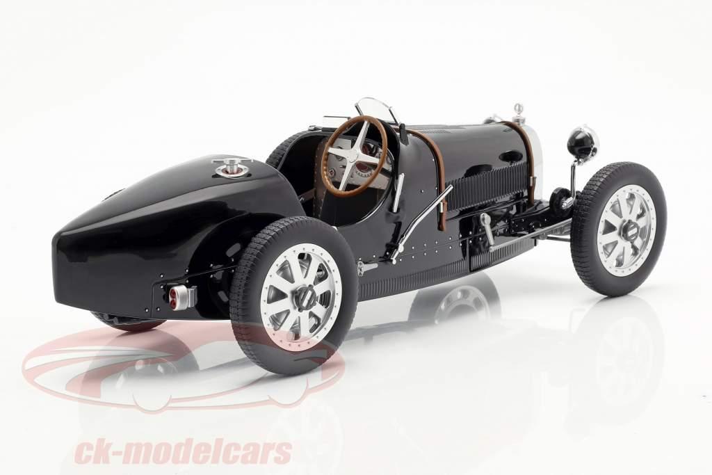 Bugatti T35 ano de construção 1925 preto 1:12 Norev