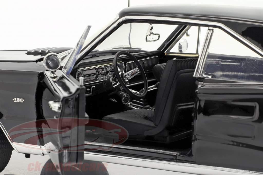 Dodge Coronet R/T Hemi Baujahr 1967 schwarz 1:18 GMP
