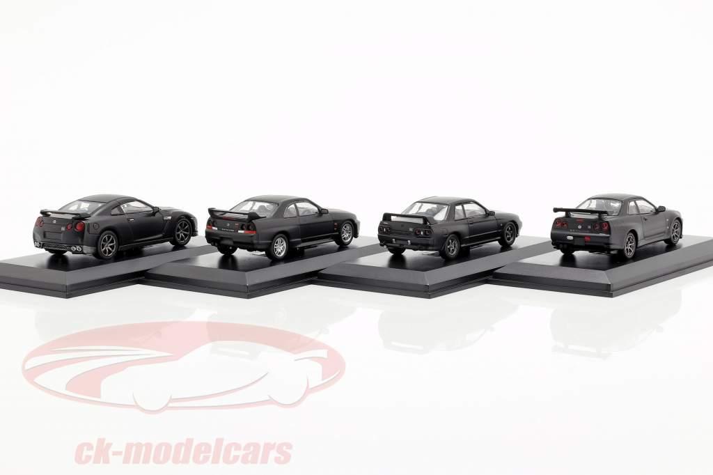 4-Car Set Nissan GT-R 50a aniversario 1:64 Kyosho