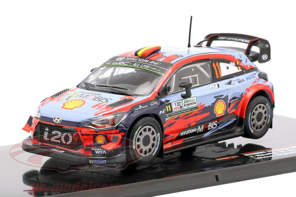 Hyundai i20 Coupe WRC #11 vencedor Rallye Argentina 2019 Neuville, Gilsoul 1:43 Ixo