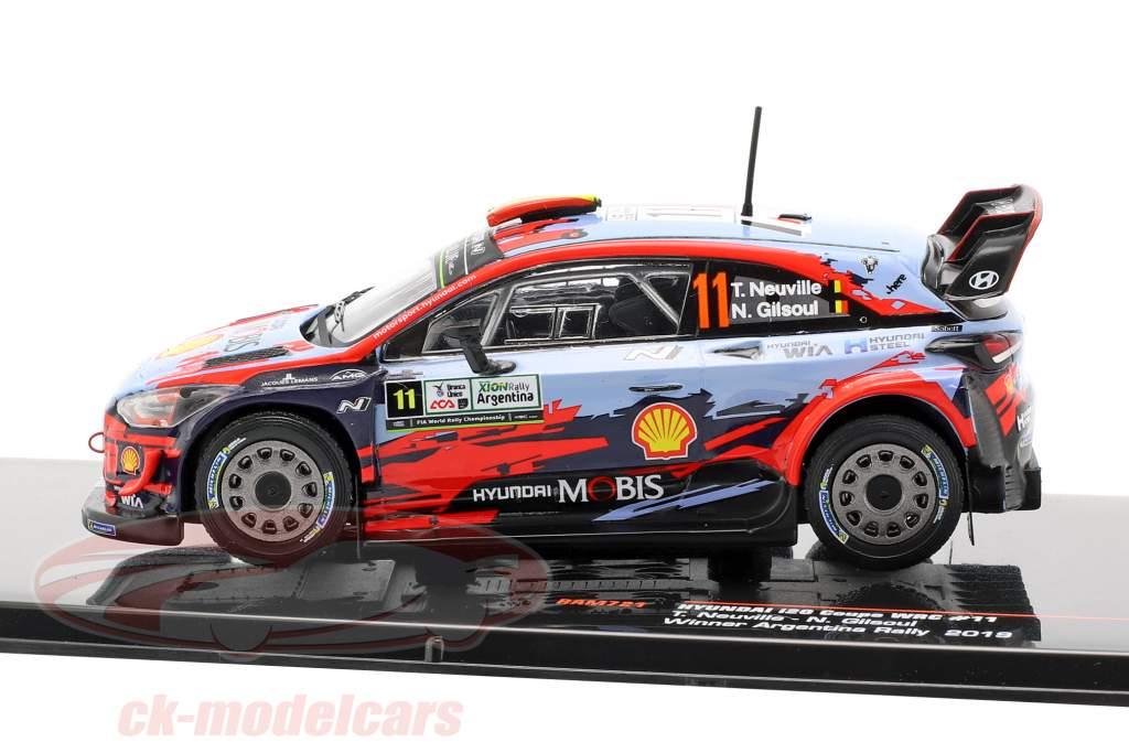 Hyundai i20 Coupe WRC #11 Winner Rallye Argentinien 2019 Neuville, Gilsoul 1:43 Ixo