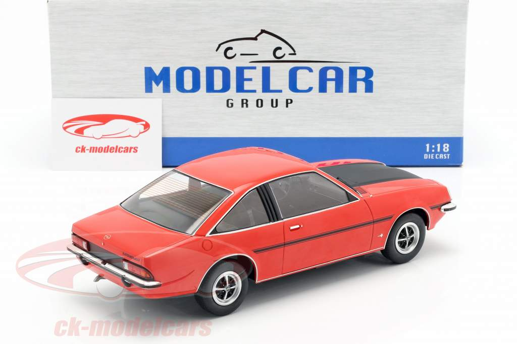 Opel Manta B SR year 1975 red / mat black 1:18 Model Car Group