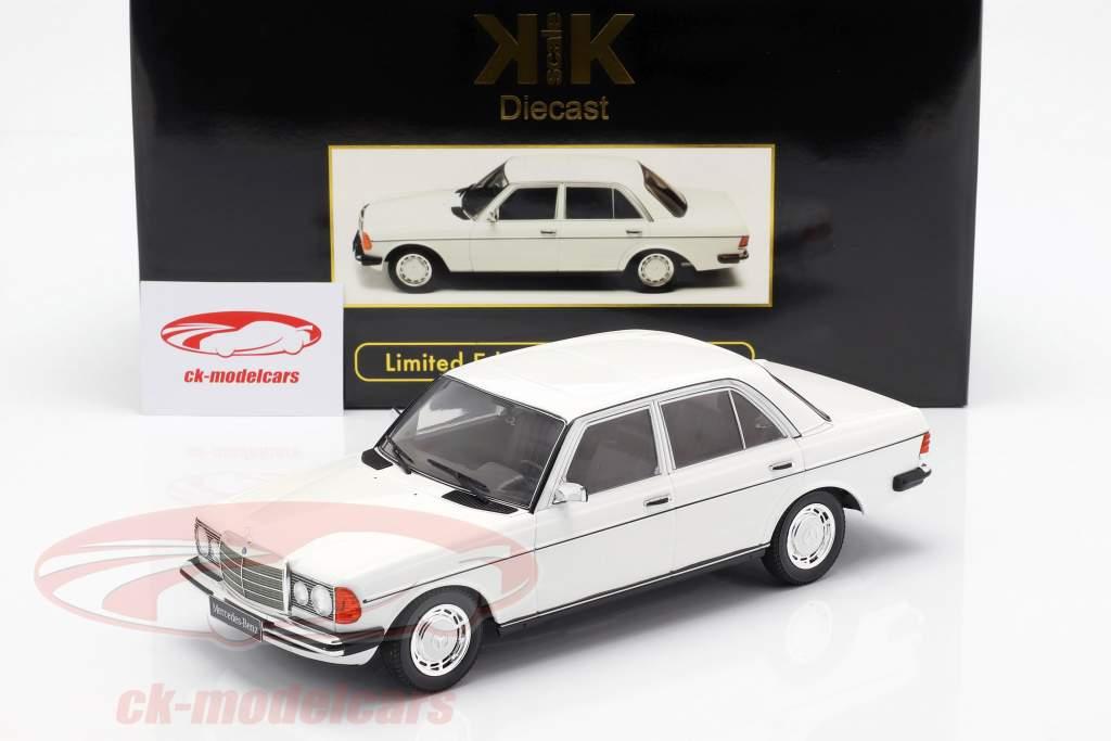 Mercedes-Benz 230E (W123) anno di costruzione 1975 bianco 1:18 KK-Scale