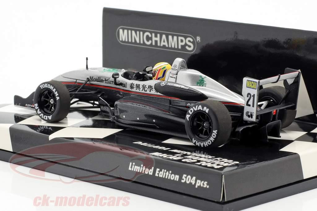 Lewis Hamilton Dallara F302 #21 Pole Position Macau GP 2004 1:43 Minichamps
