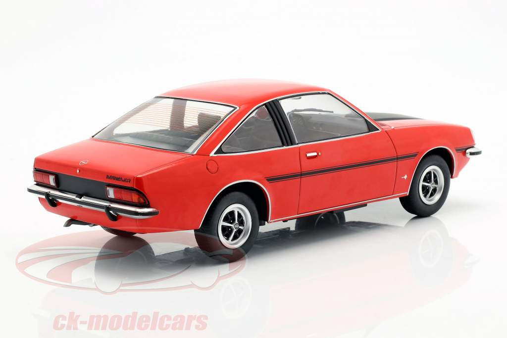 Opel Manta B SR Baujahr 1975 rot / mattschwarz 1:18 Model Car Group