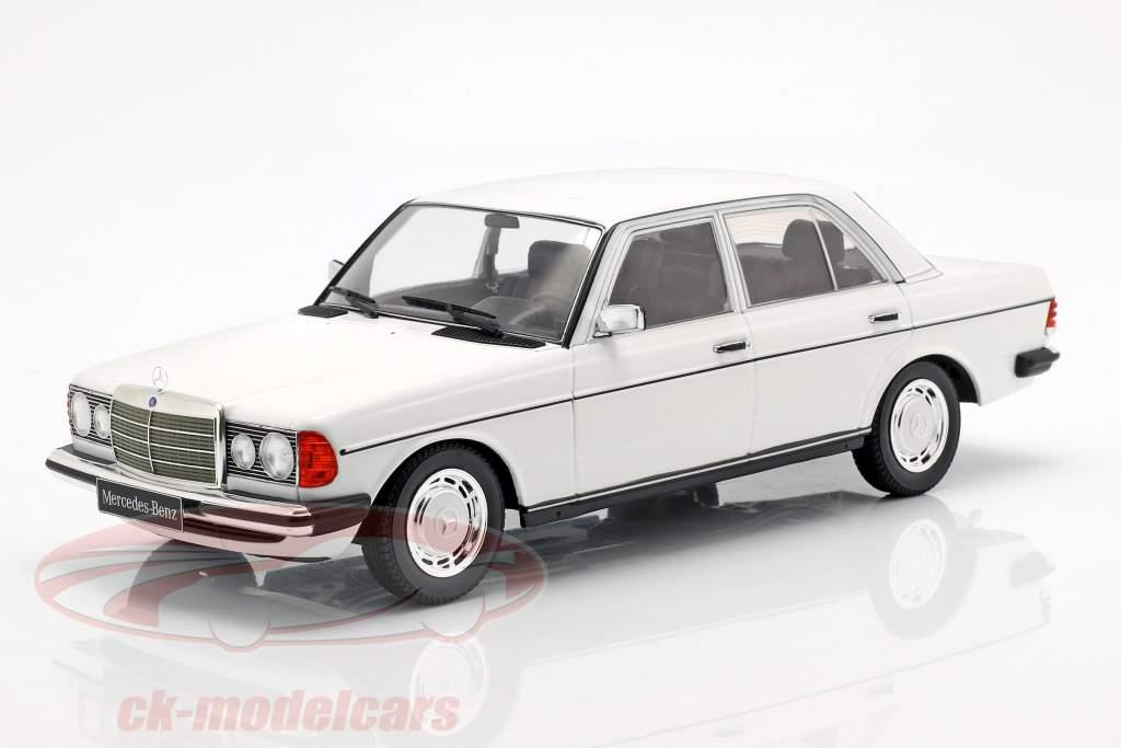 Mercedes-Benz 230E (W123) Opførselsår 1975 hvid 1:18 KK-Scale