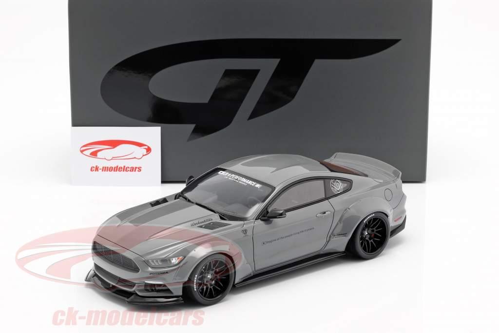 Ford Mustang by LB Works grå 1:18 GT-Spirit