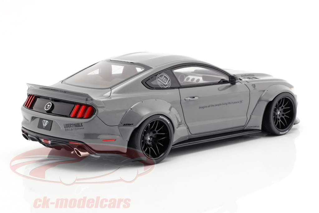 Ford Mustang by LB Works cinza 1:18 GT-Spirit