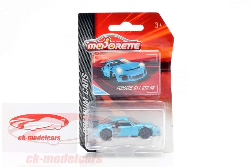 Porsche 911 GT3 RS blauw 1:64 Majorette