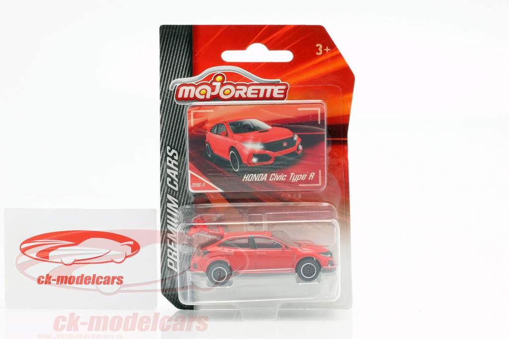 Honda Civic Type R rød 1:64 Majorette