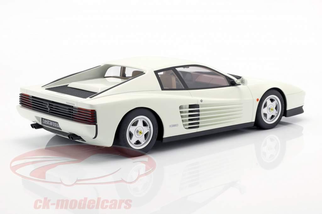 Ferrari Testarossa ano de construção 1984 branco 1:12 GT-Spirit