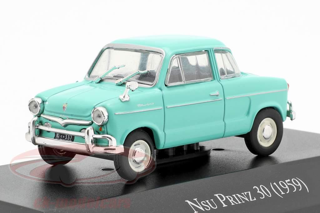 NSU Prinz 30 ano de construção 1959 turquesa 1:43 Altaya