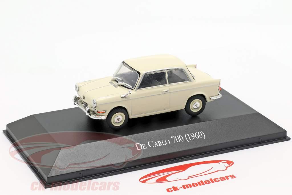 BMW De Carlo 700 Opførselsår 1960 creme hvid 1:43 Altaya