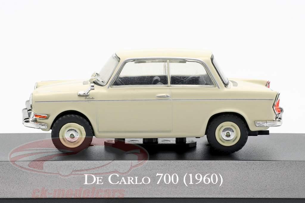 BMW De Carlo 700 Bouwjaar 1960 crème wit 1:43 Altaya