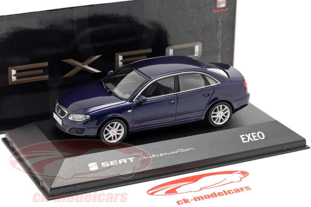 Seat Exeo sedan ada blå metallisk 1:43 Seat