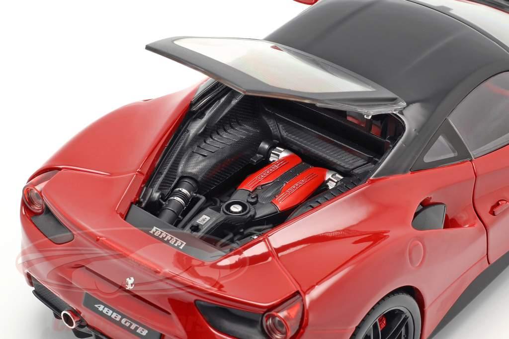 Ferrari 488 GTB red 1:18 Bburago Signature