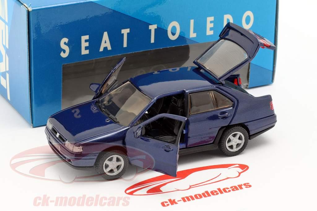 Seat Toledo I año de construcción 1991-99 azul oscuro metálico 1:43 Seat
