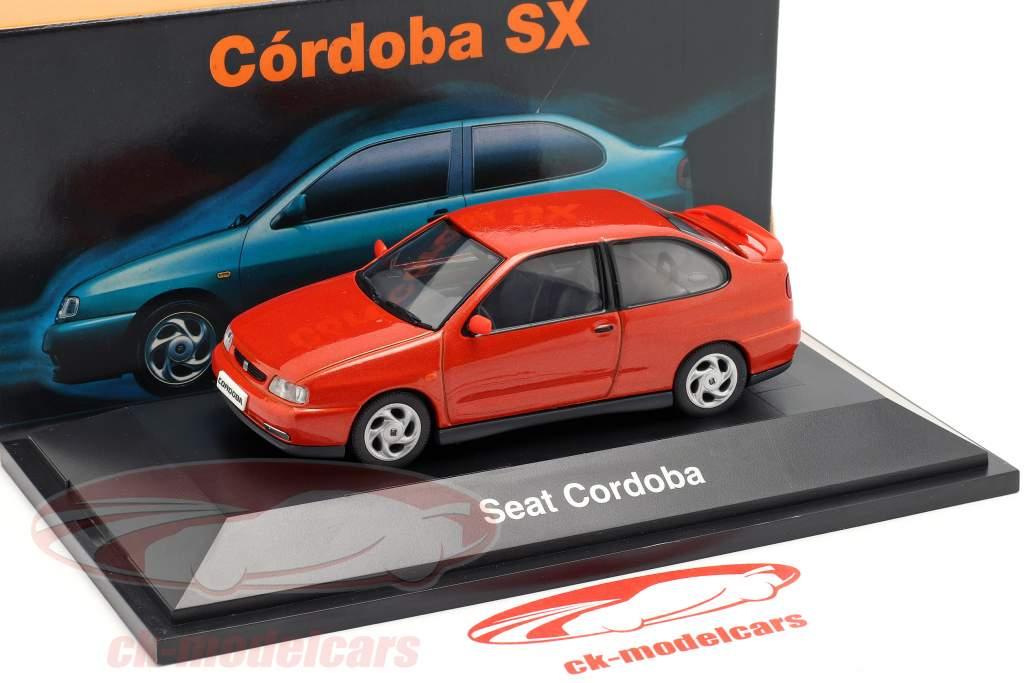 Seat Cordoba SX Opførselsår 1996 orangerød metallisk 1:43 Seat