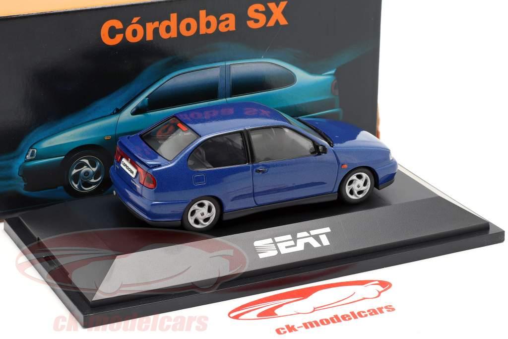 Seat Cordoba SX Bouwjaar 1996 donkerblauw metalen 1:43 Seat