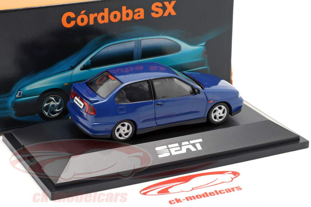 Seat Cordoba SX year 1996 dark blue metallic 1:43 Seat