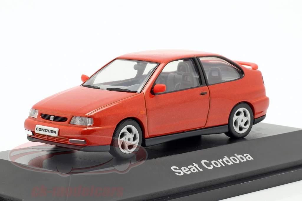 Seat Cordoba SX ano de construção 1996 laranja-vermelho metálico 1:43 Seat