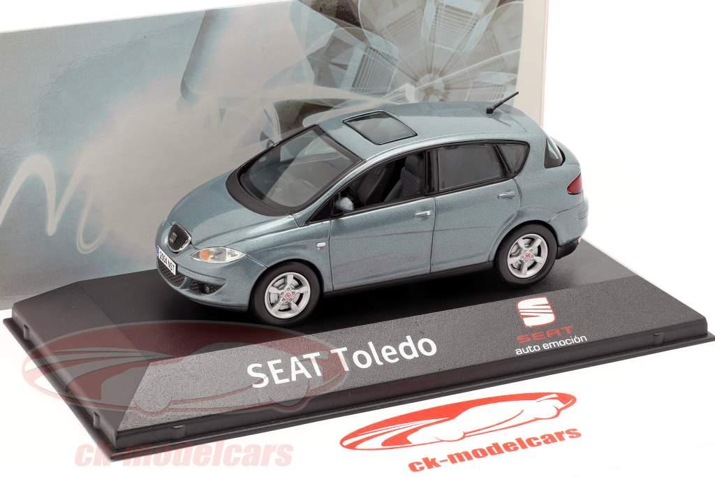 Seat Toledo III ano de construção 2004-2009 cinza azul metálico 1:43 Seat