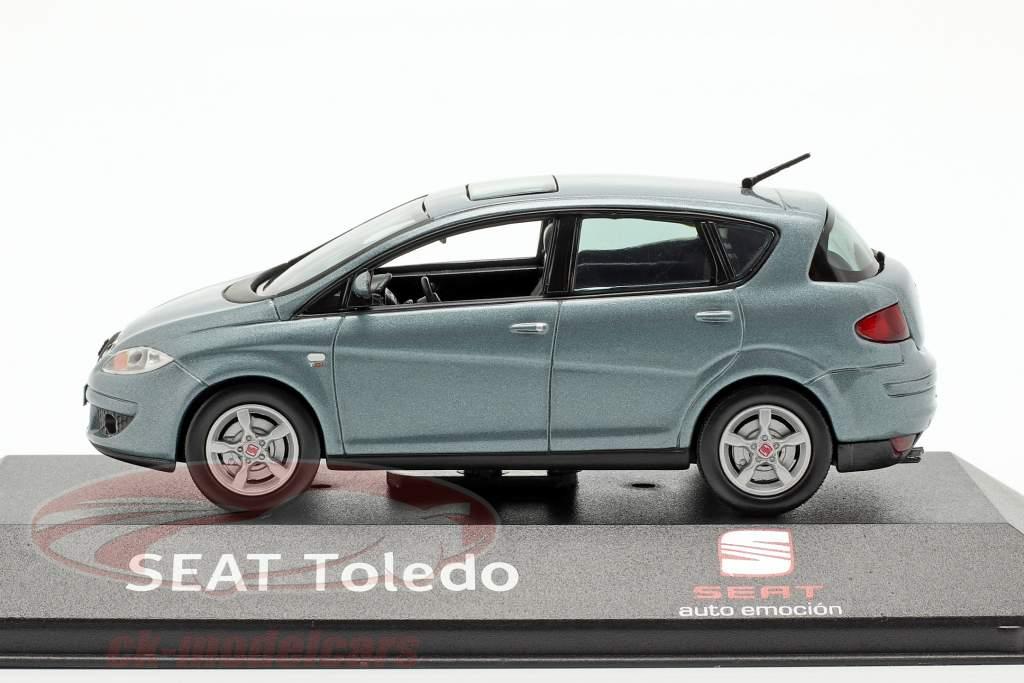 Seat Toledo III Bouwjaar 2004-2009 blauw grijs metalen 1:43 Seat
