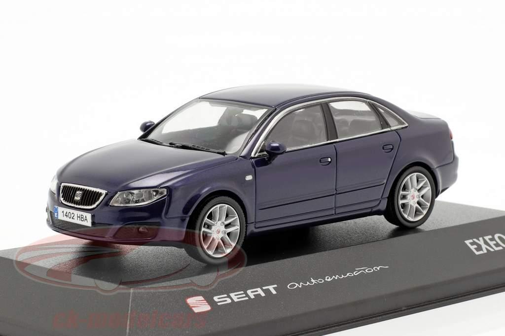 Seat Exeo sedan ada blauw metalen 1:43 Seat